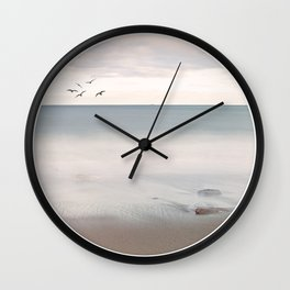 Sip of Summer Ocean Seaside Beach Neutral Postcards Fine Art Prints Gifts Wall Clock