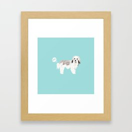 Havanese farting dog cute funny dog gifts pure breed dogs Framed Art Print