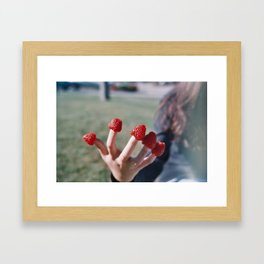Berry Hands Framed Art Print