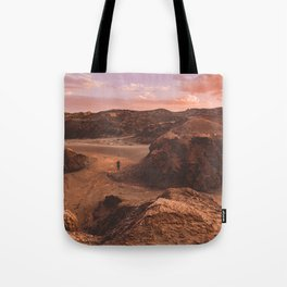 Sunset in Valle De La Luna, Chile Tote Bag