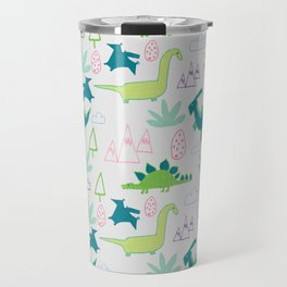 Dino Fun land Grey Travel Mug