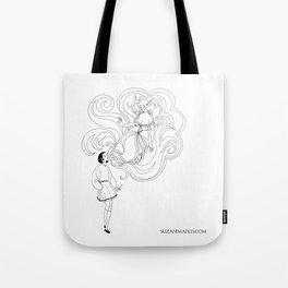 Cigarette Genie Tote Bag
