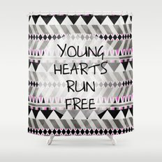 Young Hearts Shower Curtain