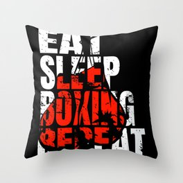 Boxing Boxing Fight Boxing Sparring Boxer Sport Throw Pillow
