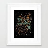 vonnegut Framed Art Prints featuring sirens of titan - vonnegut by miles to go