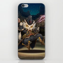cute cat in magic iPhone Skin
