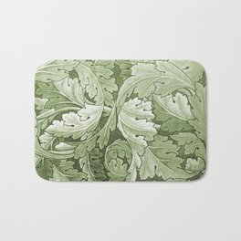 Celery Green Acanthus Plant Bath Mat