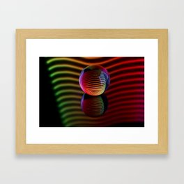 Reflections in the crystal ball. Framed Art Print