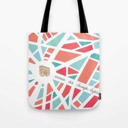 Paris Minimal Map Tote Bag