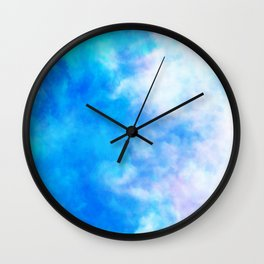 sky dye series, blue Wall Clock