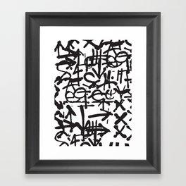 Graffiti Pattern Framed Art Print
