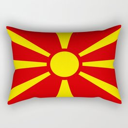 Flag of Macedonia - authentic (High Quality image) Rectangular Pillow