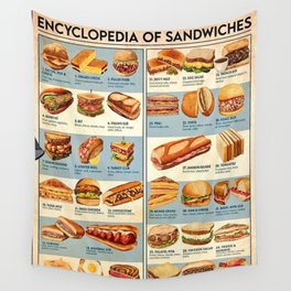 Encyclopedia of Sandwiches Wall Tapestry