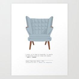 Papa Bear Chair Art Print