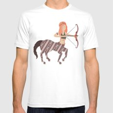 ARCHER MEDIUM White Mens Fitted Tee