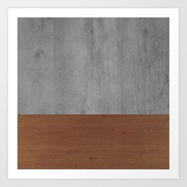 Concrete-Touch of a Wood Art Print