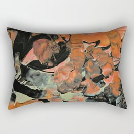Fall Thoughts - Abstract Acrylic Painting Rectangular Pillow
