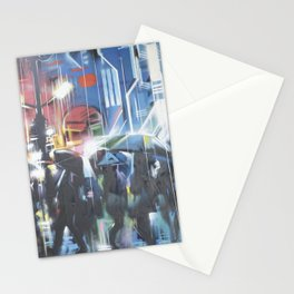 Rainy day in the city Stationery Cards