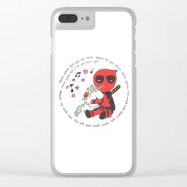 The Merc with a mouth loves unicorns Clear iPhone Case