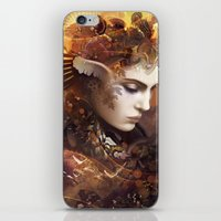 autumn iPhone & iPod Skins featuring Autumn by AlexToothArt