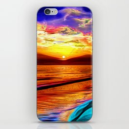 Sunset in Liverpool Bay iPhone Skin