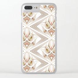 "Art Deco 39. "" Flo  "". Clear iPhone Case"