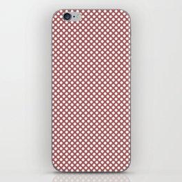 Dusty Cedar and White Polka Dots iPhone Skin