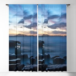 Tardis On The Sea Stone Blackout Curtain