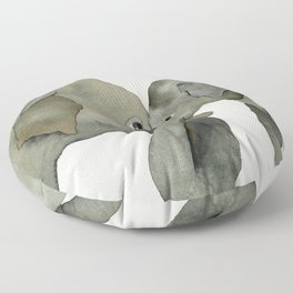 Mom and baby elephant Floor Pillow
