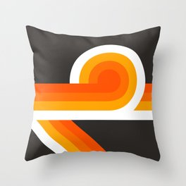 Flame Looper Throw Pillow