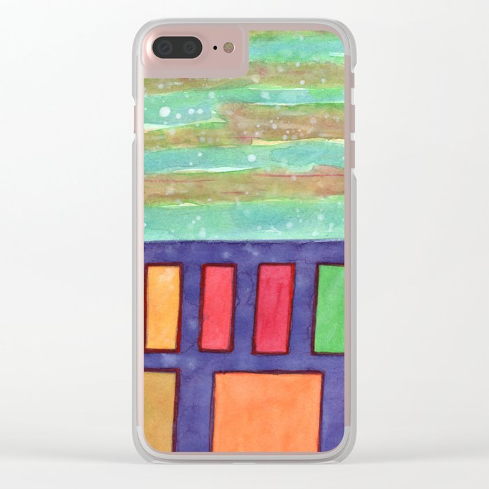 Building with colorful Windows Clear iPhone Case