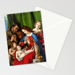 Lorenzo Lotto - Adoration of the Christ Child Stationery Cards