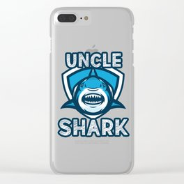 Uncle Shark Clear iPhone Case