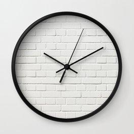 white brick wall tapestry Wall Clock