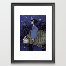 Kingfisher's Invitation to Tea (2) Framed Art Print