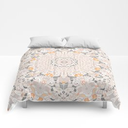 BOHO SUMMER JOURNEY MANDALA - SUNSHINE YELLOW GREY Comforters