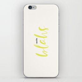 case of the blahs iPhone Skin