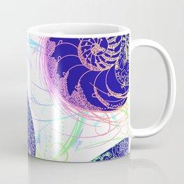 Flamboyant Colorful Sea Shells Illustration Coffee Mug