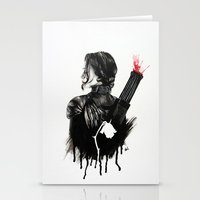 mockingjay Stationery Cards featuring Mockingjay by anazhinka