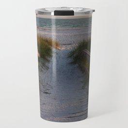 Beach Boardwalk Travel Mug