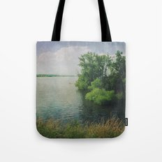 She Sat in the Sunshine and Watched the Clouds Tote Bag