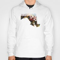 maryland Hoodies featuring Maryland by david zobel