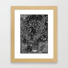 Star Deer Framed Art Print