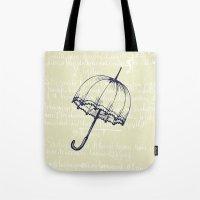 umbrella Tote Bags featuring Umbrella by Mr and Mrs Quirynen