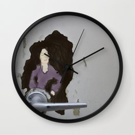 The Door knob Lady Wall Clock