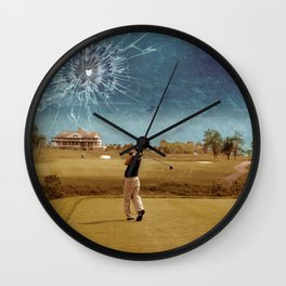 Broken Glass Sky Wall Clock