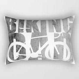 Biking dad a fathers day gift or for the father thats cycling as a hobby a fathers day hobby Rectangular Pillow