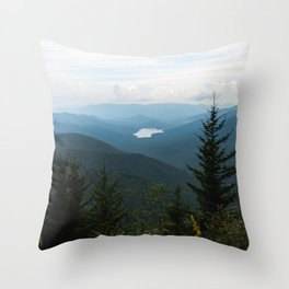 Smoky Mountain National Park -  Mountain Lake Landscape Throw Pillow