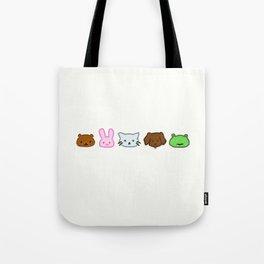 Crayon Animals Tote Bag