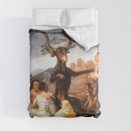 Francisco de Goya - Witches Sabbath (El Aquelarre) 1798 Artwork for Wall Art, Prints, Posters, Tshir Comforters